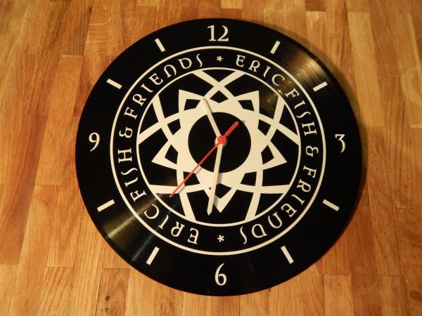 Nostalgische 'Schallplatten' Uhr